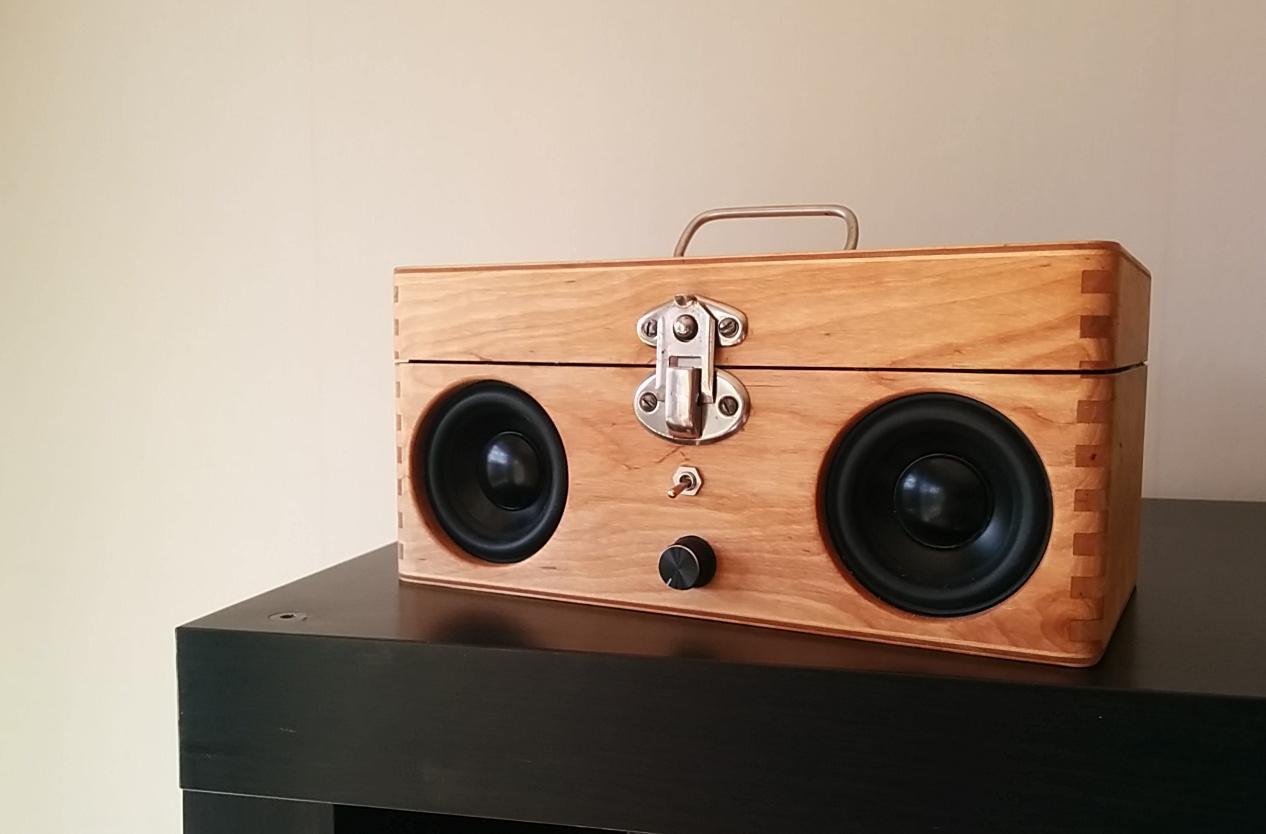 DIY Speaker Box  Portable speaker from old wooden box DIY
