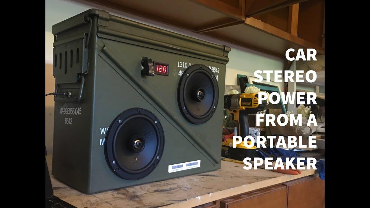DIY Speaker Box  DIY Ammo Box Speaker