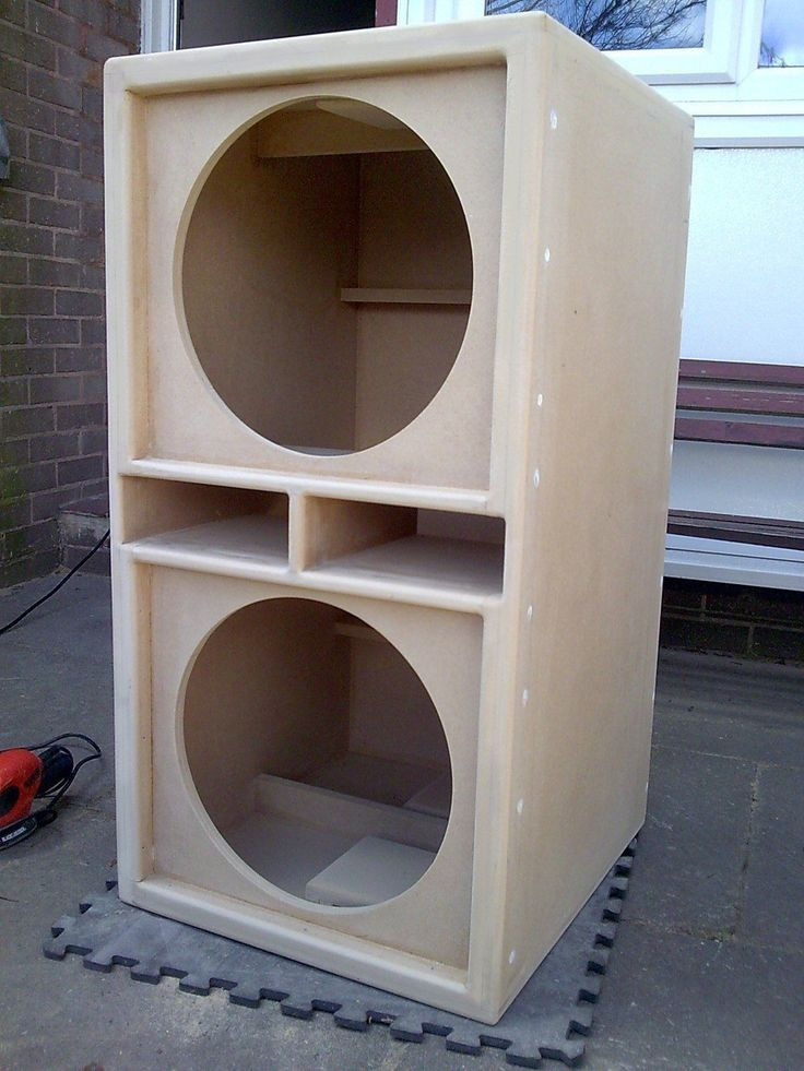 """DIY Speaker Box  Details about PAIR of Double 15"""" bass bins speaker boxs"""