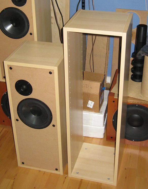 DIY Speaker Box  IKEA kitchen cabinets to make BaffleXchange speaker boxes