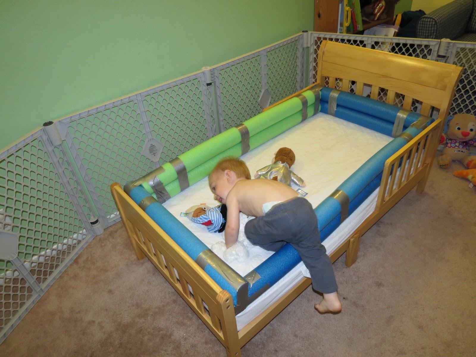 DIY Toddler Bed Rails  Mama Frankenstein DIY Toddler Bed Bumper Tutorial