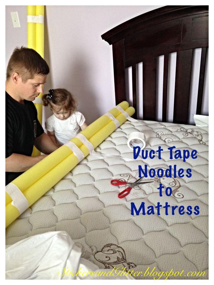 DIY Toddler Bed Rails  Stickers & Glitter DIY Toddler Bed Rails
