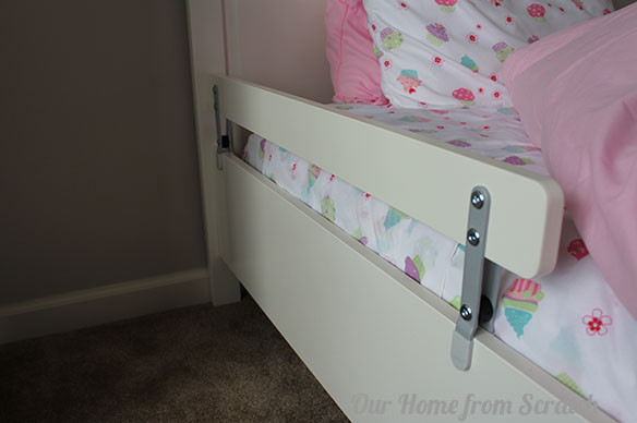 DIY Toddler Bed Rails  5 DIY Childproofing Tips by Our Home from Scratch