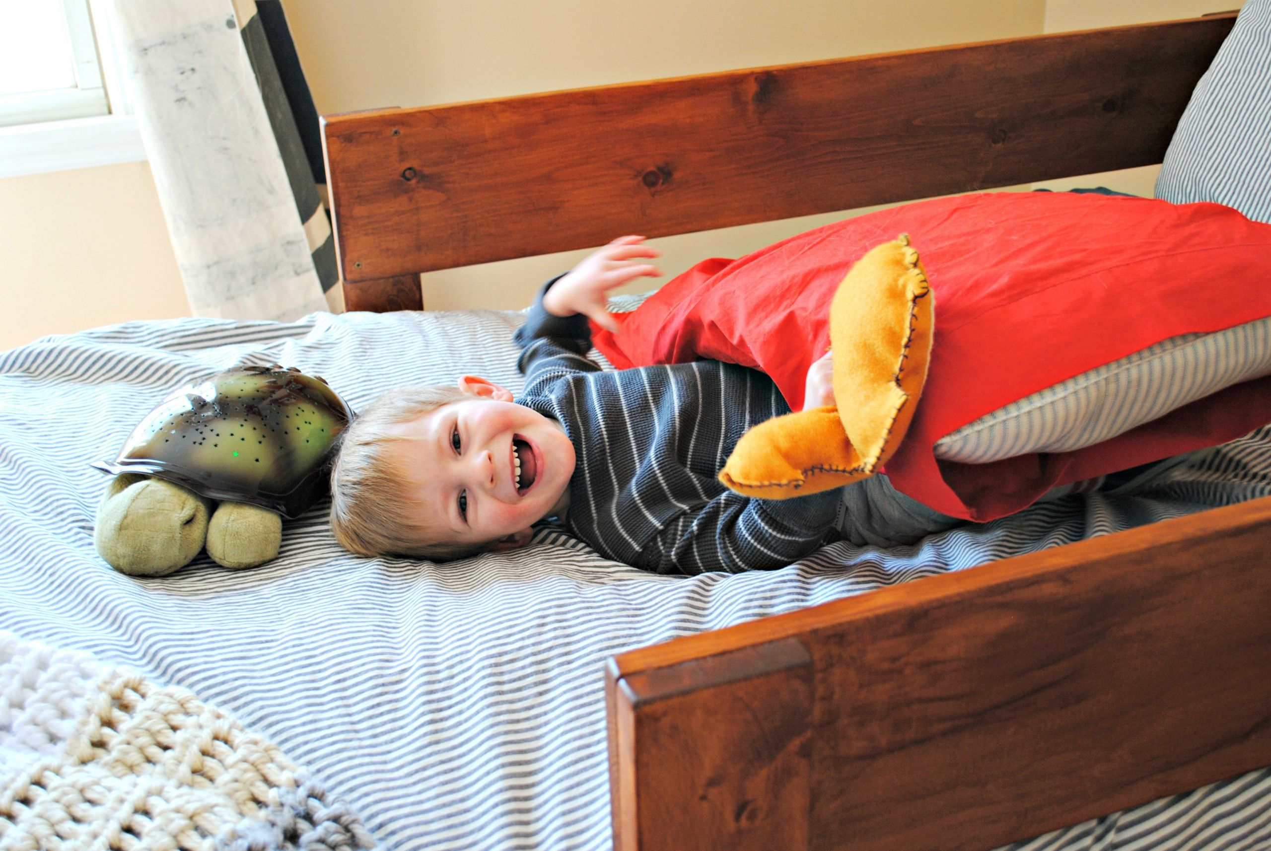 DIY Toddler Bed Rails  DIY Toddler Bed Rails Place in Progress