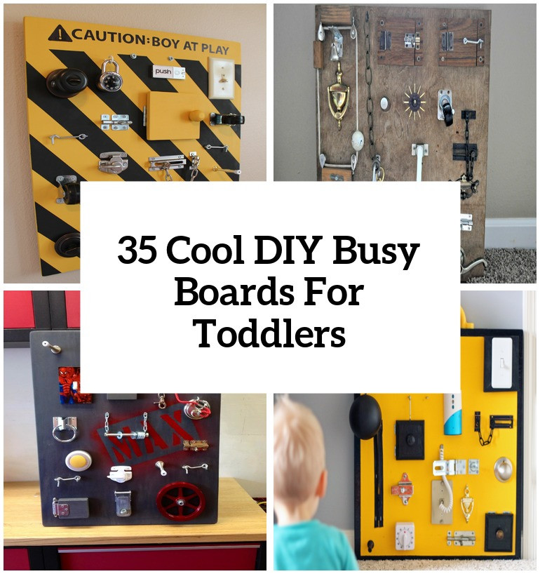 DIY Toddler Busy Board  35 Cool And Easy DIY Busy Boards For Toddlers Shelterness