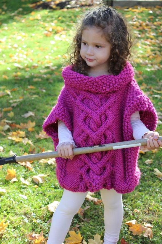 DIY Toddler Cape Pattern  Cape KNITTING PATTERN The Kate Pullover Poncho toddler