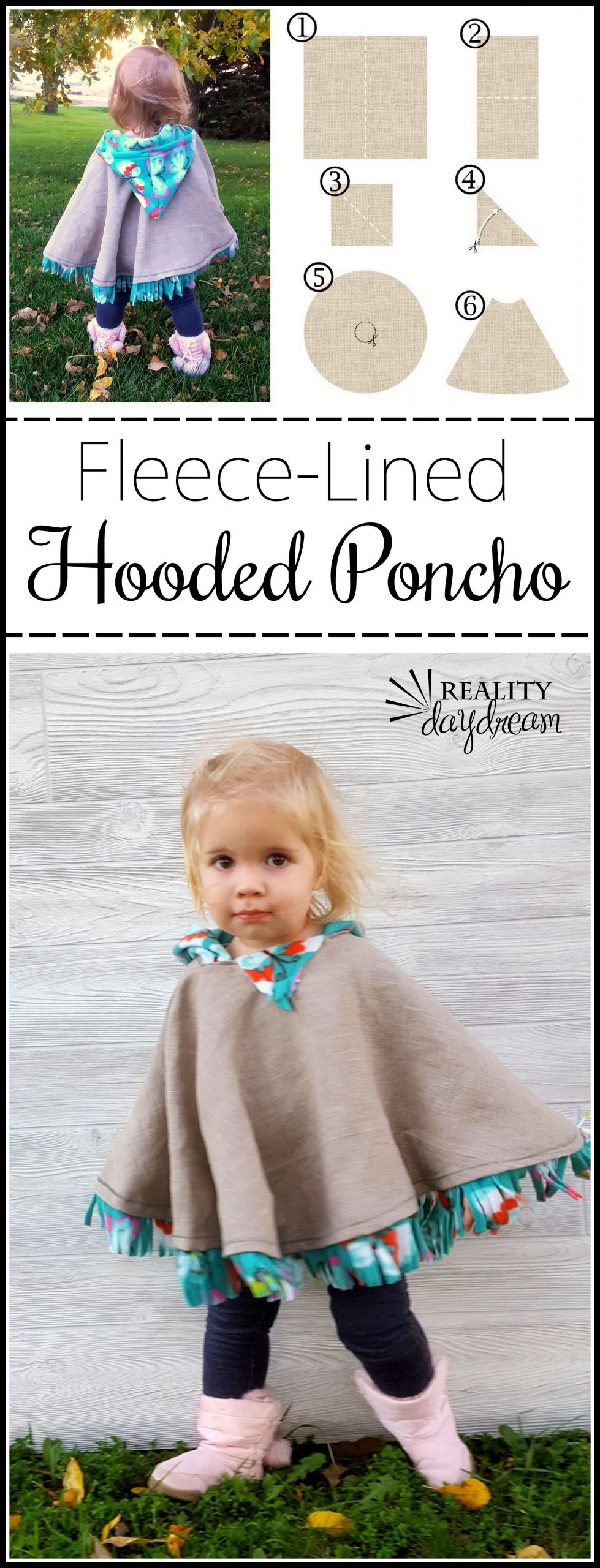 DIY Toddler Cape Pattern  THE BEST Car Seat Poncho Tutorial Fleece lined Reality