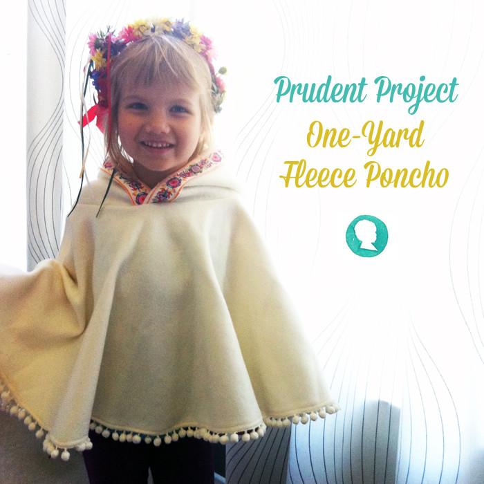 DIY Toddler Cape Pattern  1 Yard Fleece Hooded Poncho