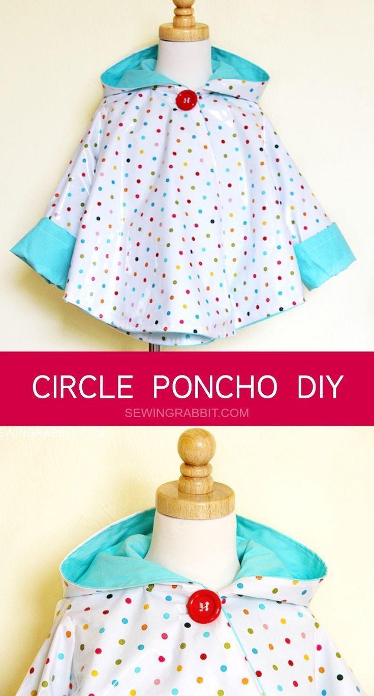 DIY Toddler Cape Pattern  Circle Poncho DIY