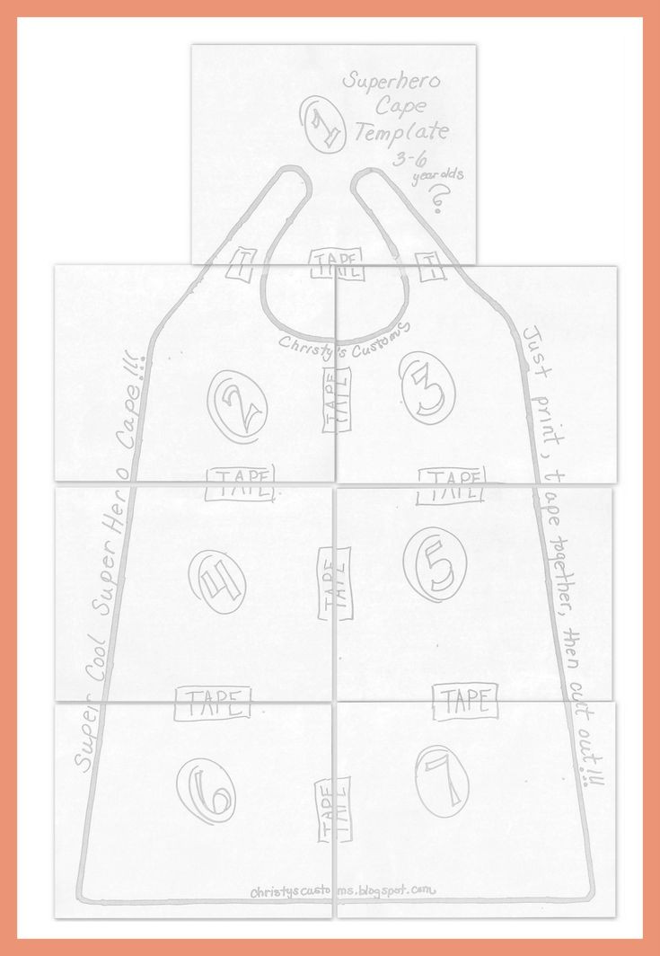 DIY Toddler Cape Pattern  pattern for child s cape