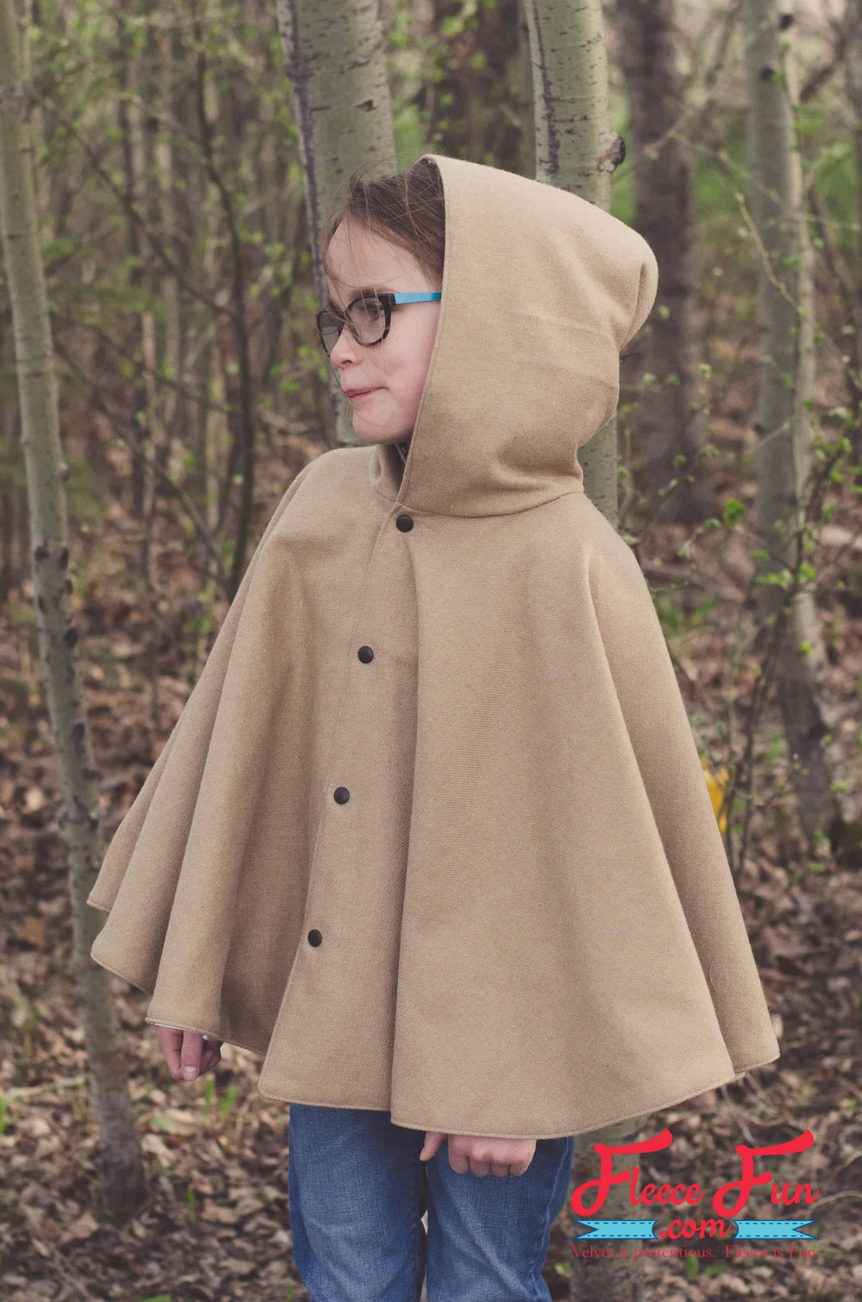 DIY Toddler Cape Pattern  Fall Cape for Girls Free Pattern and Tutorial