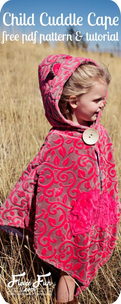 DIY Toddler Cape Pattern  20 Hoo Free Printable Sewing Patterns Free Sewing