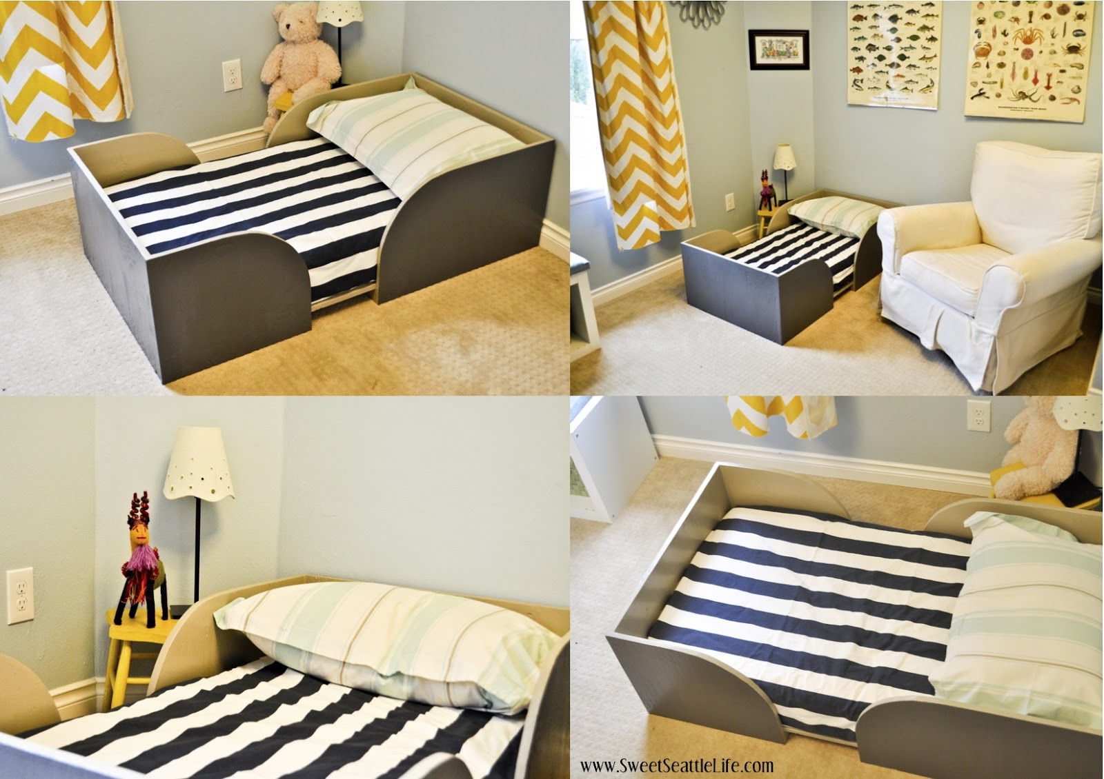 DIY Toddler House Bed  Chris and Sonja The Sweet Seattle Life DIY Toddler Bed