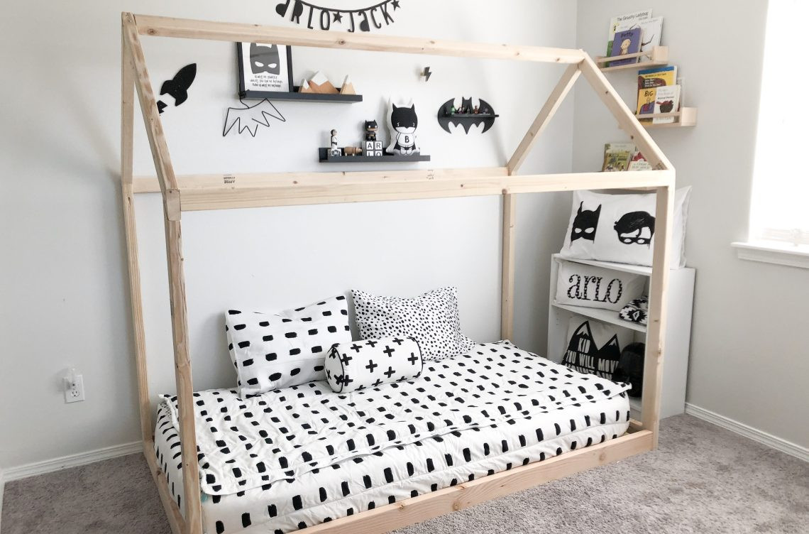 DIY Toddler House Bed  DIY Montessori Floor House Bed