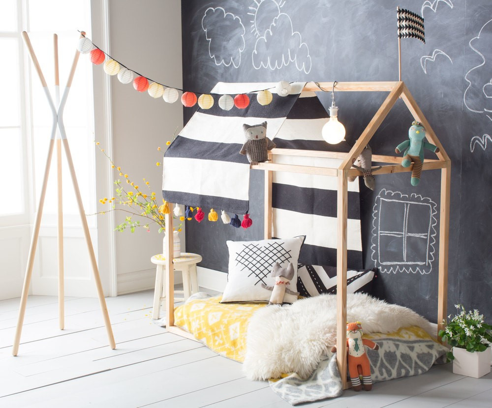 DIY Toddler House Bed  Pillow Forts & Playhouses for Kids to Make Being Stuck at