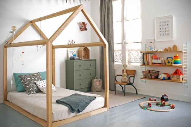 DIY Toddler House Bed  20 DIY Adorable Ideas for Kids Room