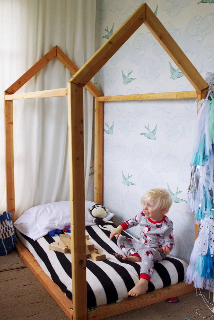 DIY Toddler House Bed  DIY toddler house bed Bel & Beau This is the one