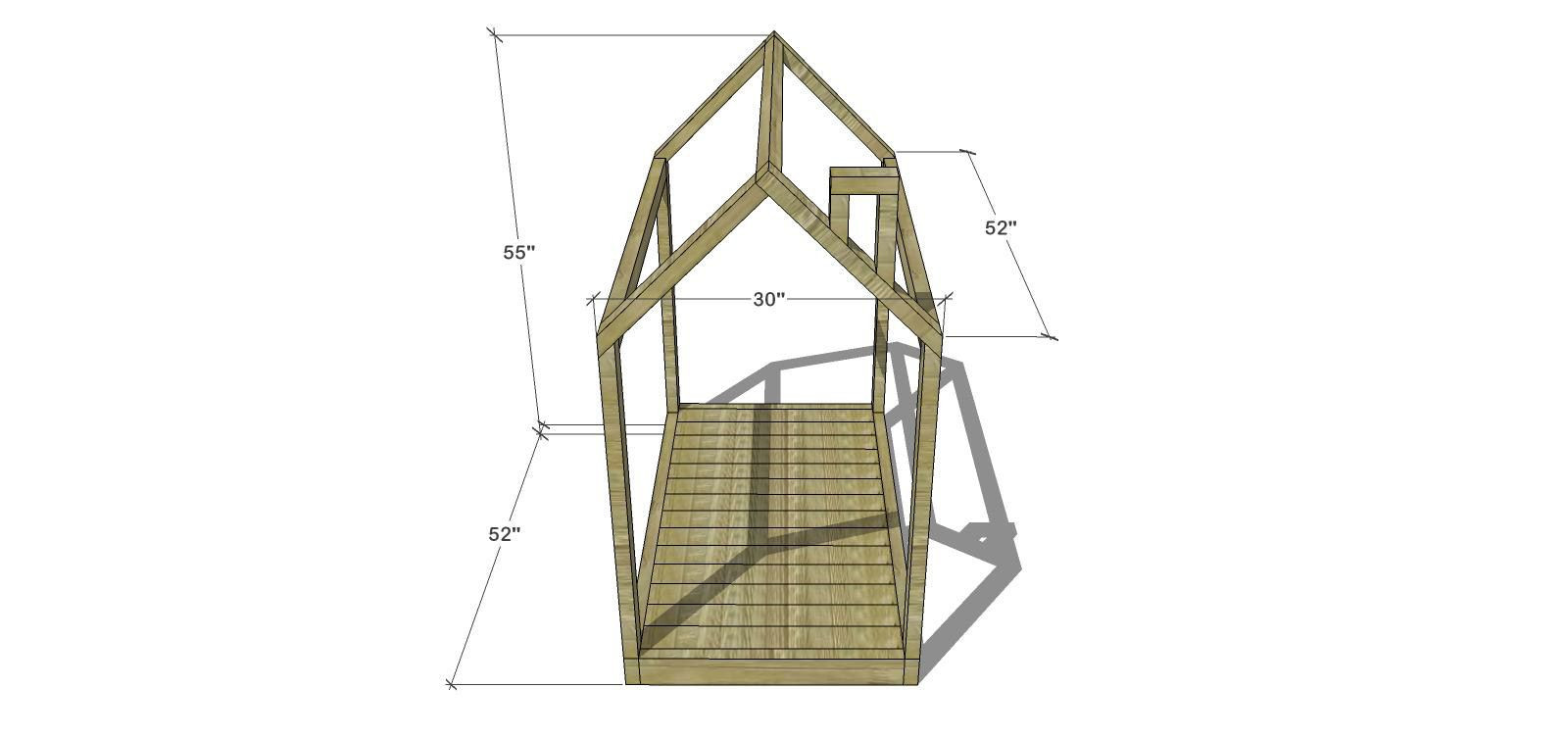 DIY Toddler House Bed  Free DIY Furniture Plans How to Build a Toddler House