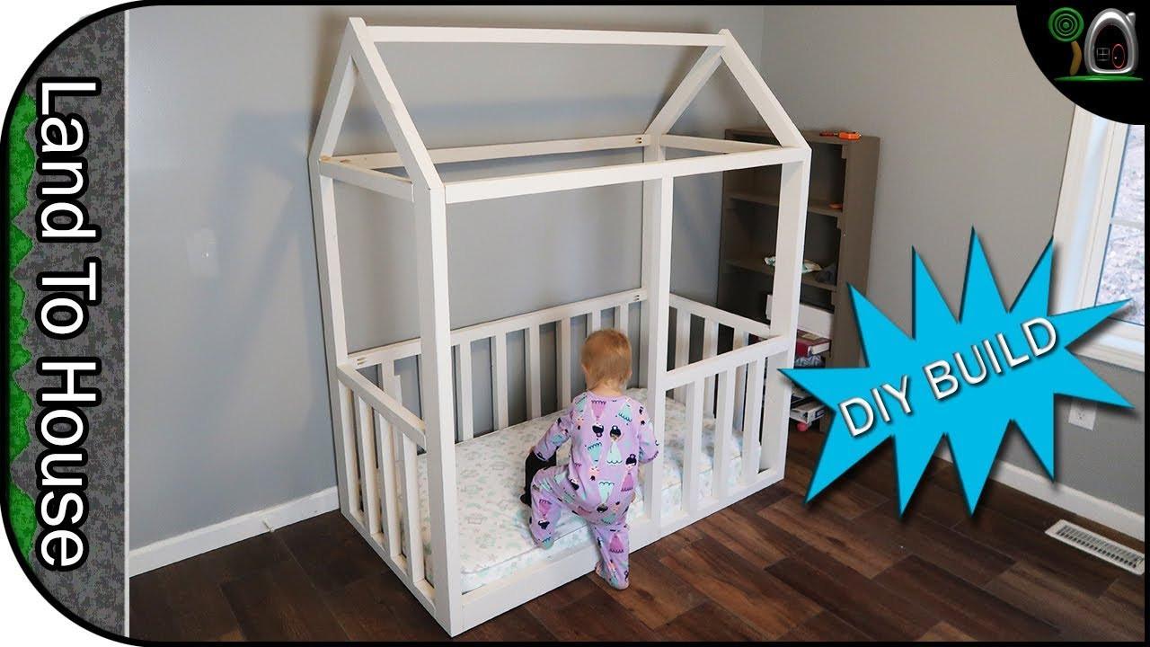 DIY Toddler House Bed  Build a Toddler House Bed Frame