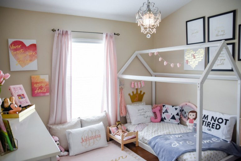 DIY Toddler House Bed  DIY House Frame Floor Bed Plan Oh Happy Play
