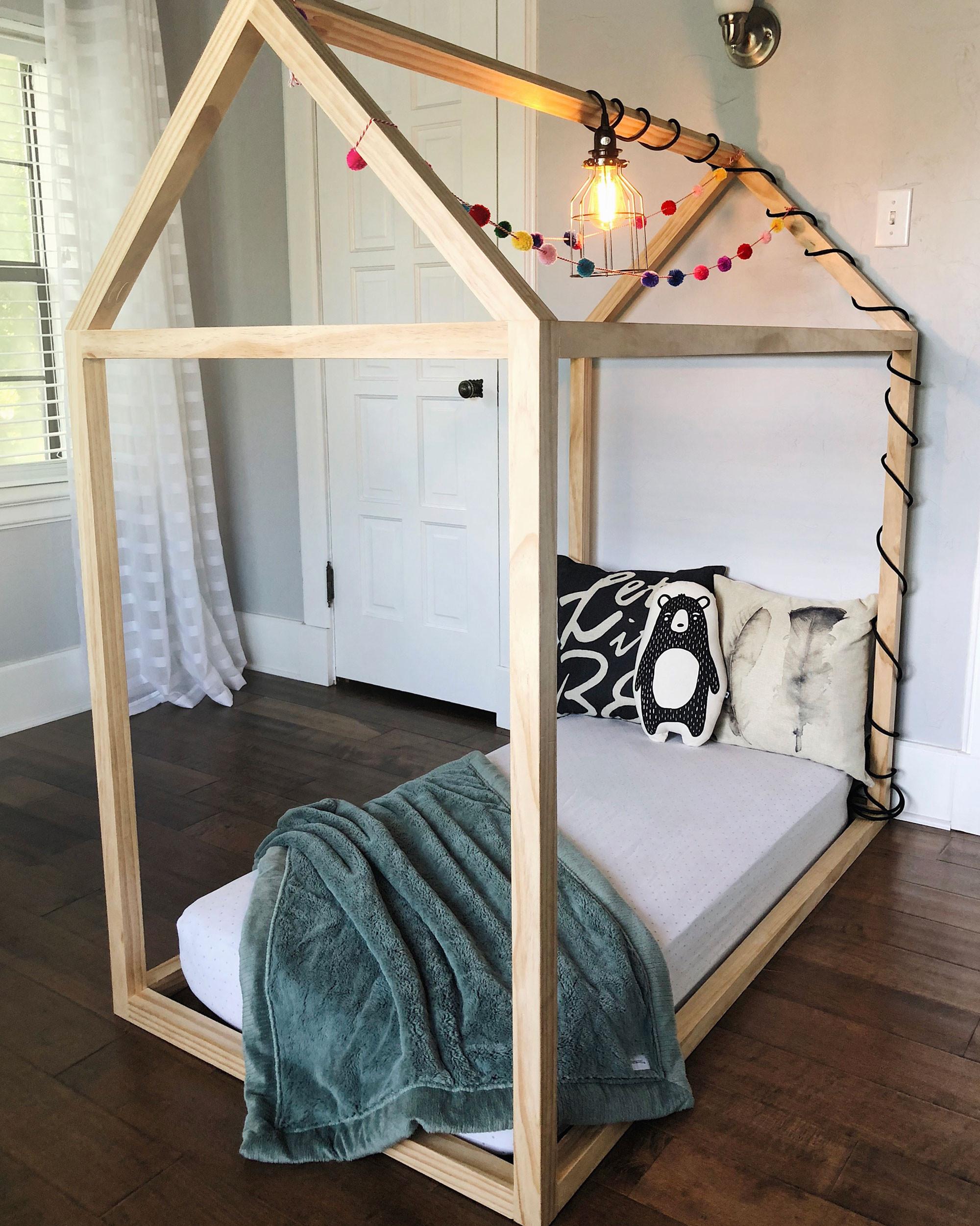 DIY Toddler House Bed  DIY Toddler House Bed The Okie Home