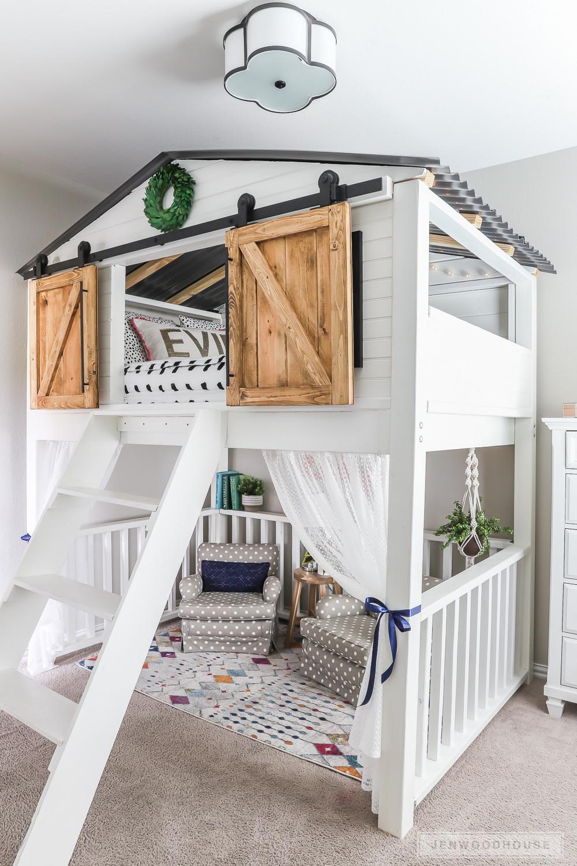DIY Toddler House Bed  7 Awesome DIY Kids Bed Plans Bunk Beds & Loft Beds