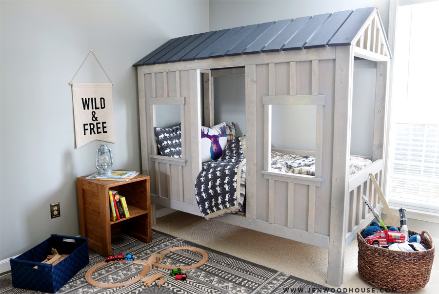 DIY Toddler House Bed  7 Super Cool Diy Kids Beds diy Thought