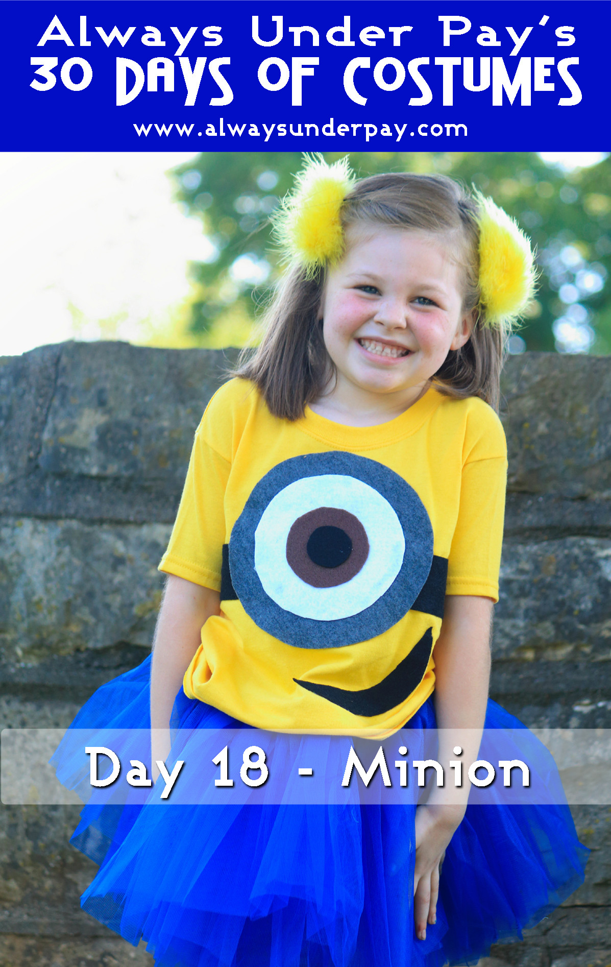 DIY Toddler Minion Costume  Day 18 – Minion DIY Halloween Costume Tutorial Cheap Easy