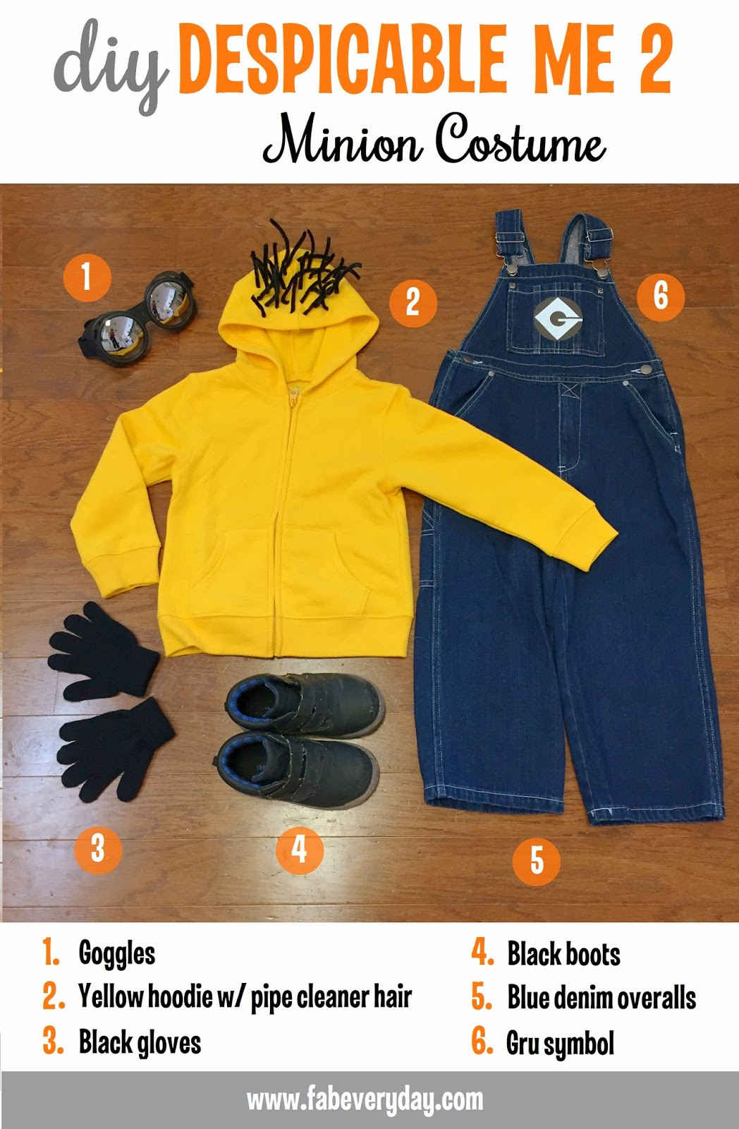 DIY Toddler Minion Costume  Fab Everyday