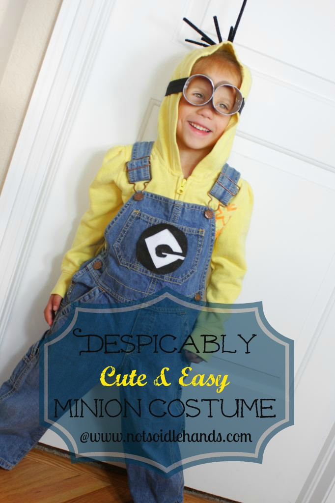 DIY Toddler Minion Costume  37 DIY Minion Costume Ideas for Halloween