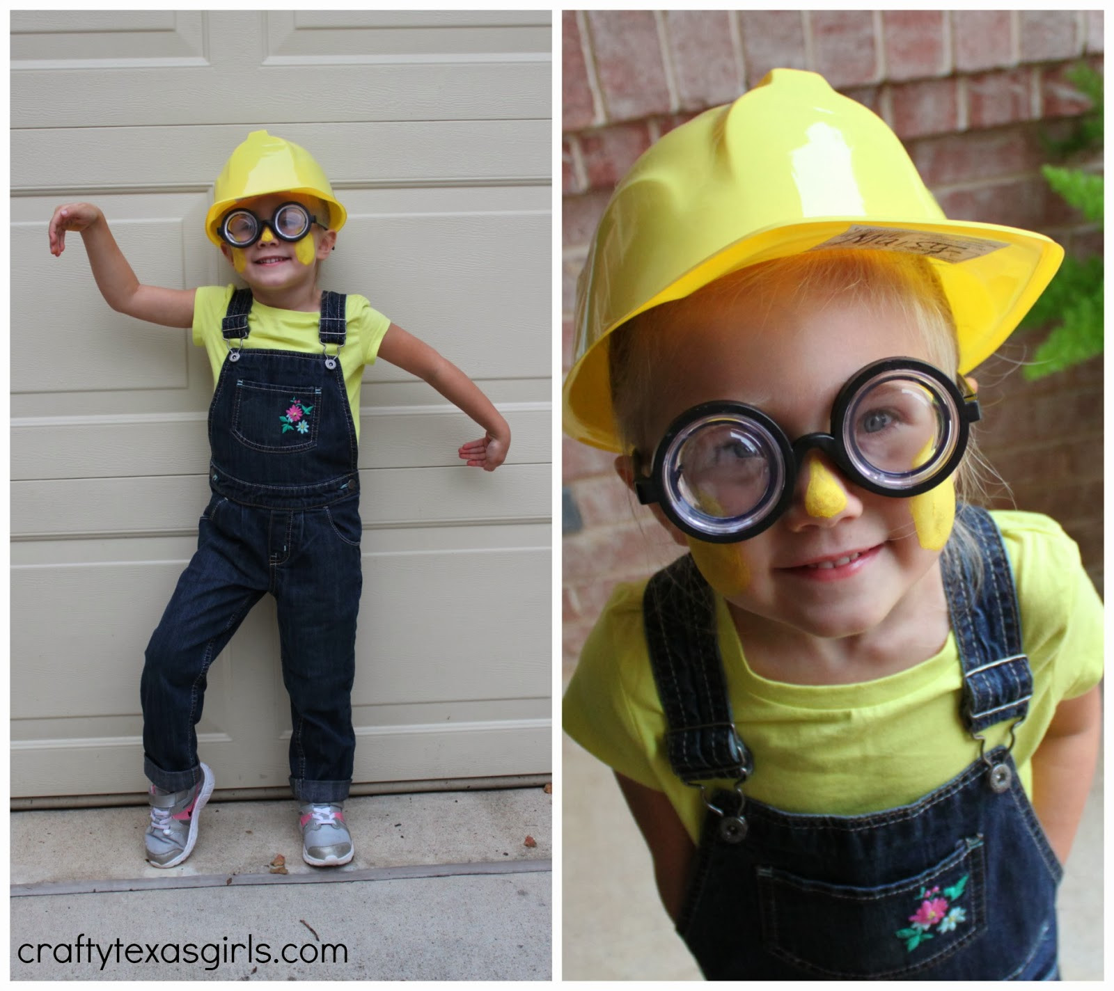 DIY Toddler Minion Costume  Crafty Texas Girls DIY Minion Costume