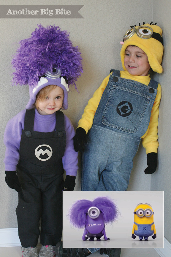 DIY Toddler Minion Costume  despicable me lucy costume