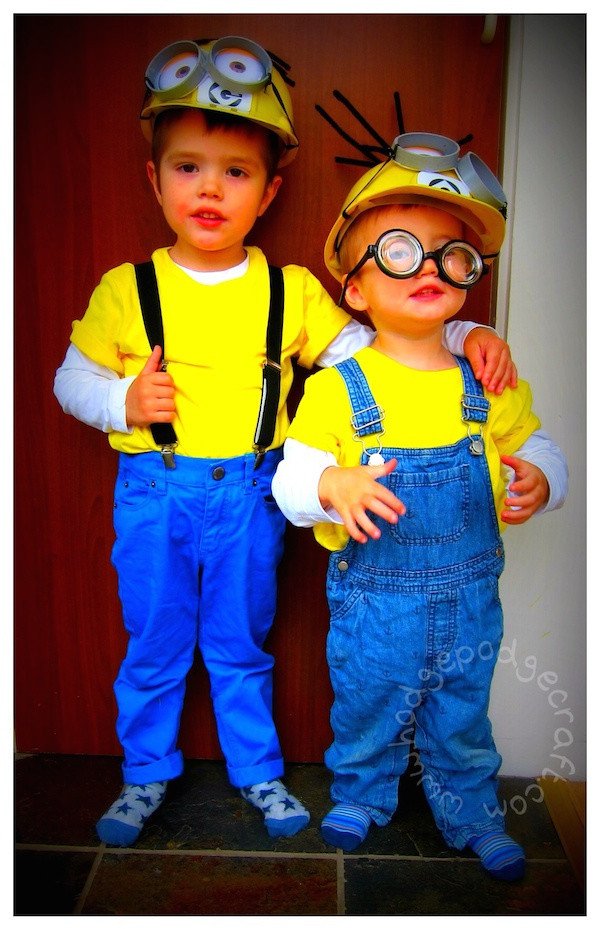 DIY Toddler Minion Costume  Fun Ideas for Minion Mad Kids In The Playroom
