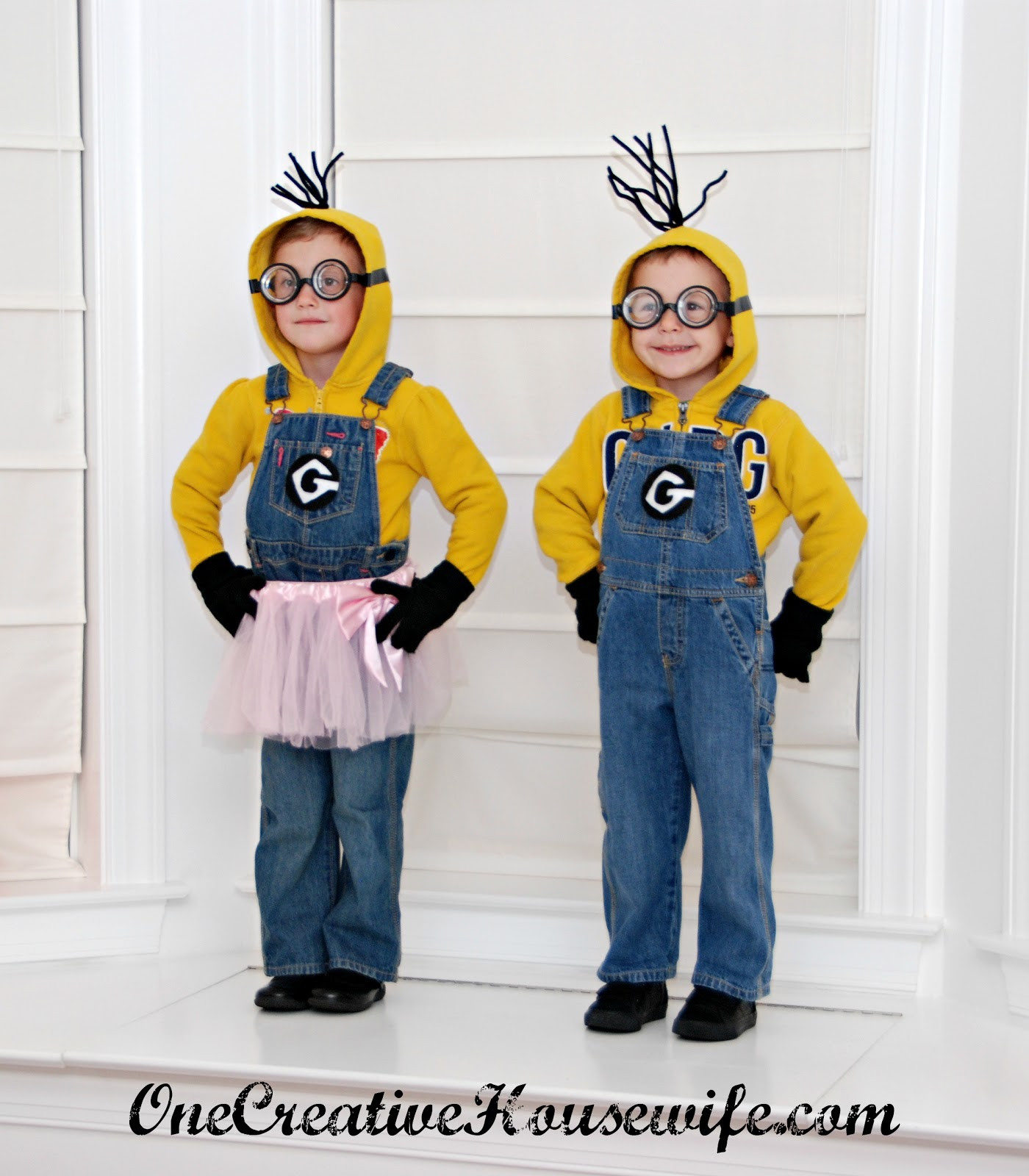 DIY Toddler Minion Costume  e Creative Housewife Despicable Me Minion Costumes