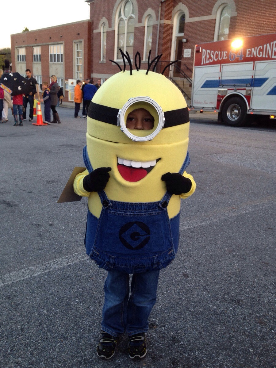 DIY Toddler Minion Costume  My wife and I made our son a minion costume for Halloween