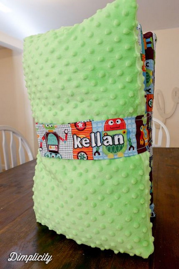 DIY Toddler Nap Mat  60 Simple & Cute Things Gifts You Can DIY For A Baby