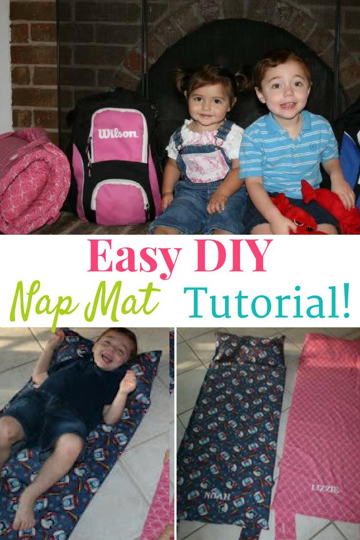 DIY Toddler Nap Mat  Easy DIY Nap Mat Tutorial Family Friendly Frugality