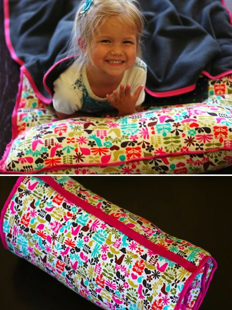 DIY Toddler Nap Mat  How To Roll Up Nap Mat With Pillow And Blanket