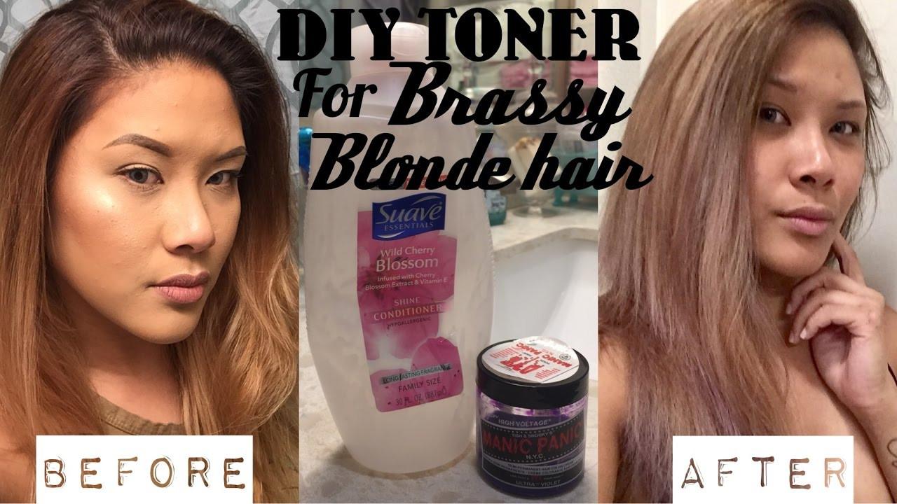 DIY Toner Hair  DIY HAIR TONER for Brassy Blonde Hair DEMO