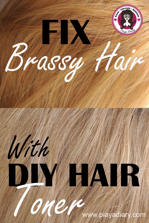 DIY Toner Hair  DIY Hair Toner From Brassy Hair to Ash Blonde Hair