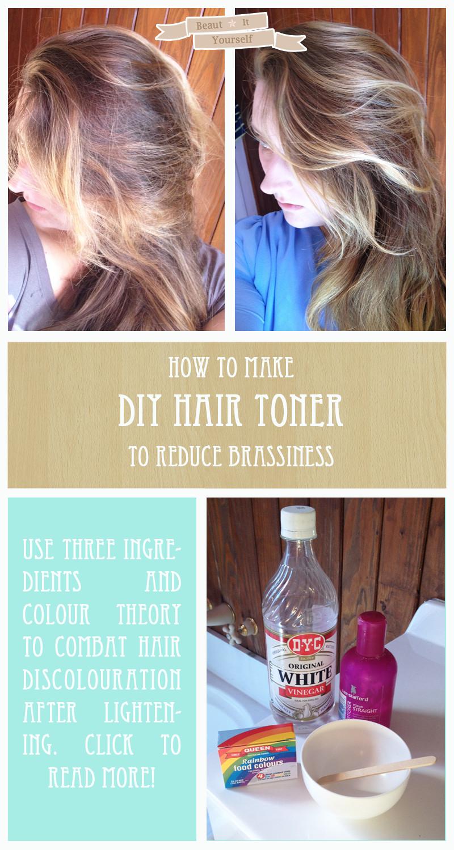 DIY Toner Hair  Beaut It Yourself DIY Hair Toner No damage