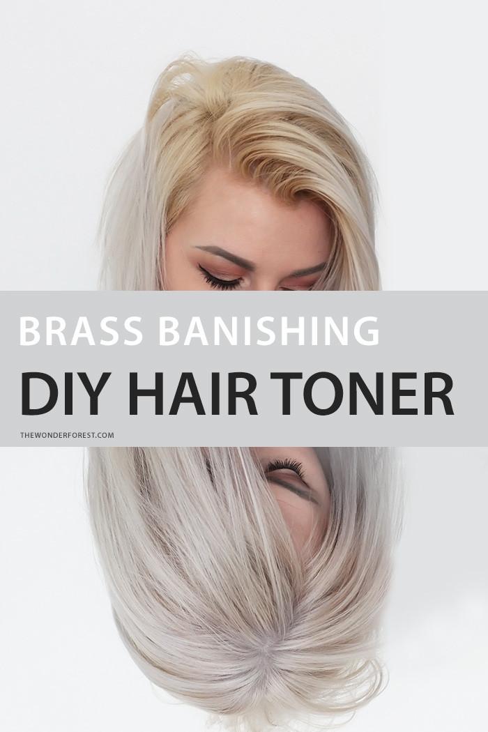 DIY Toner Hair  Brass Banishing DIY Hair Toner for Blondes Wonder Forest