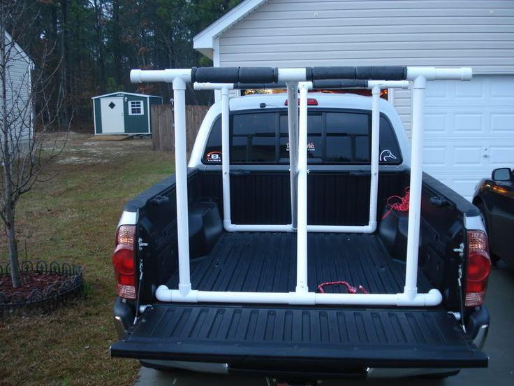 DIY Truck Canoe Rack  DIY Kayak Truck Rack Camping