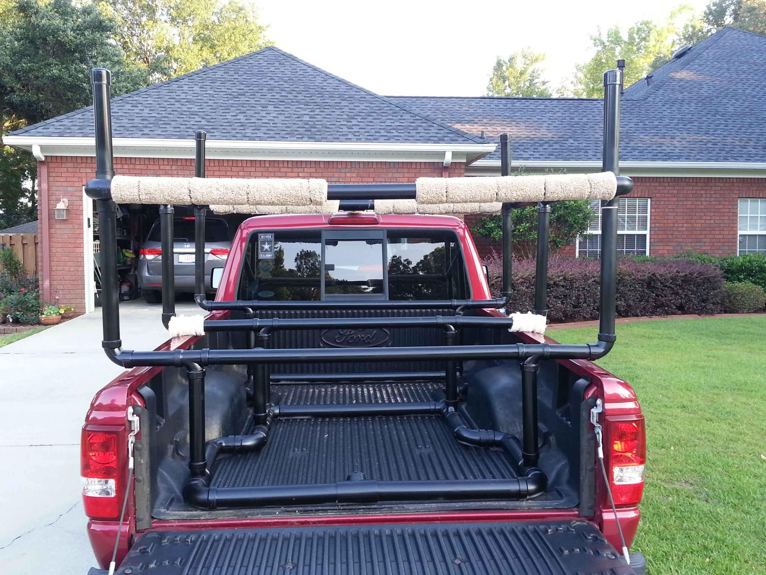 DIY Truck Canoe Rack  It is all about ting there Had to create a rack for