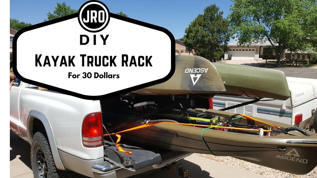 DIY Truck Canoe Rack  DIY Kayak Fishing Truck Rack