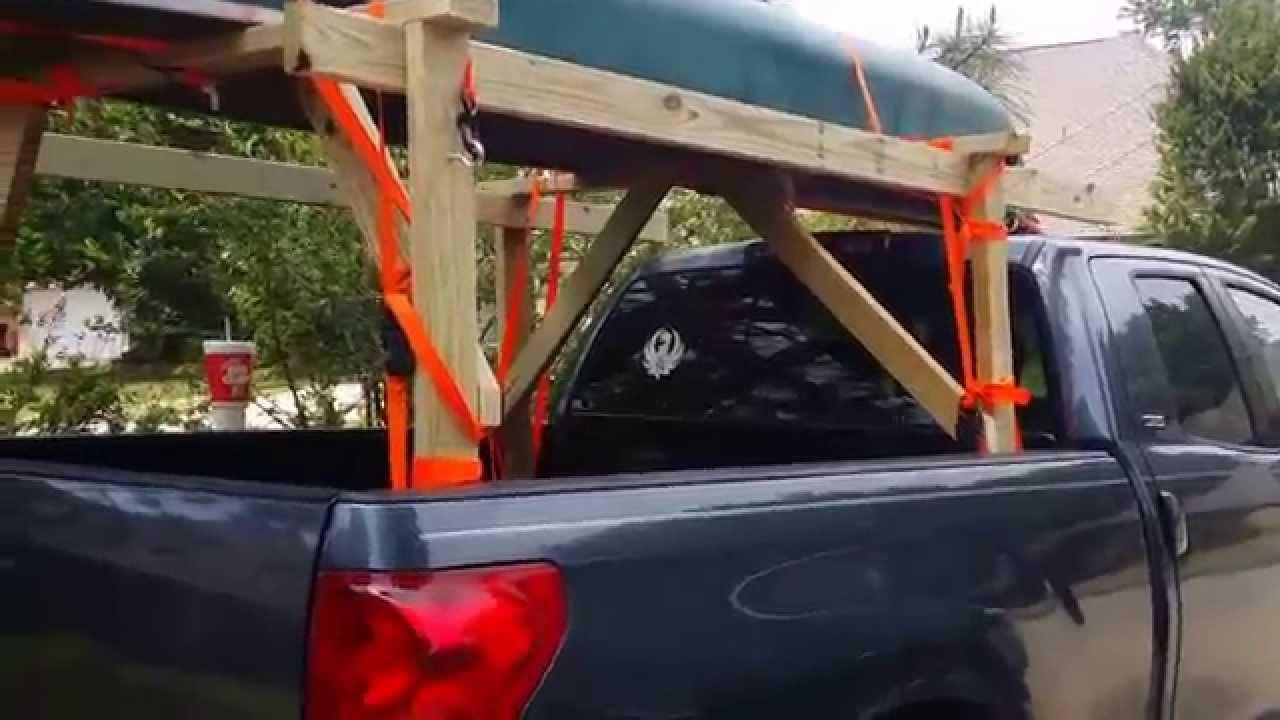 DIY Truck Canoe Rack  DIY Home made canoe kayak rack
