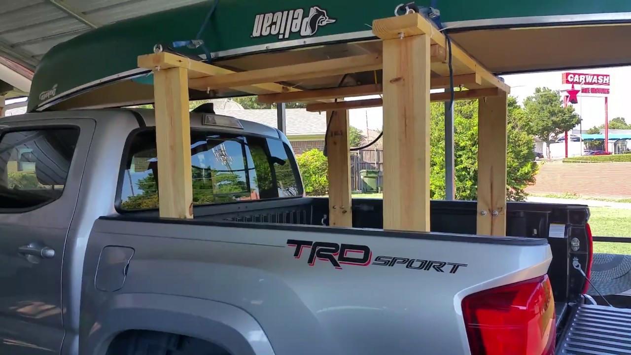 DIY Truck Canoe Rack  DIY Homemade Truck Bed Rack Ladder Canoe Kayak