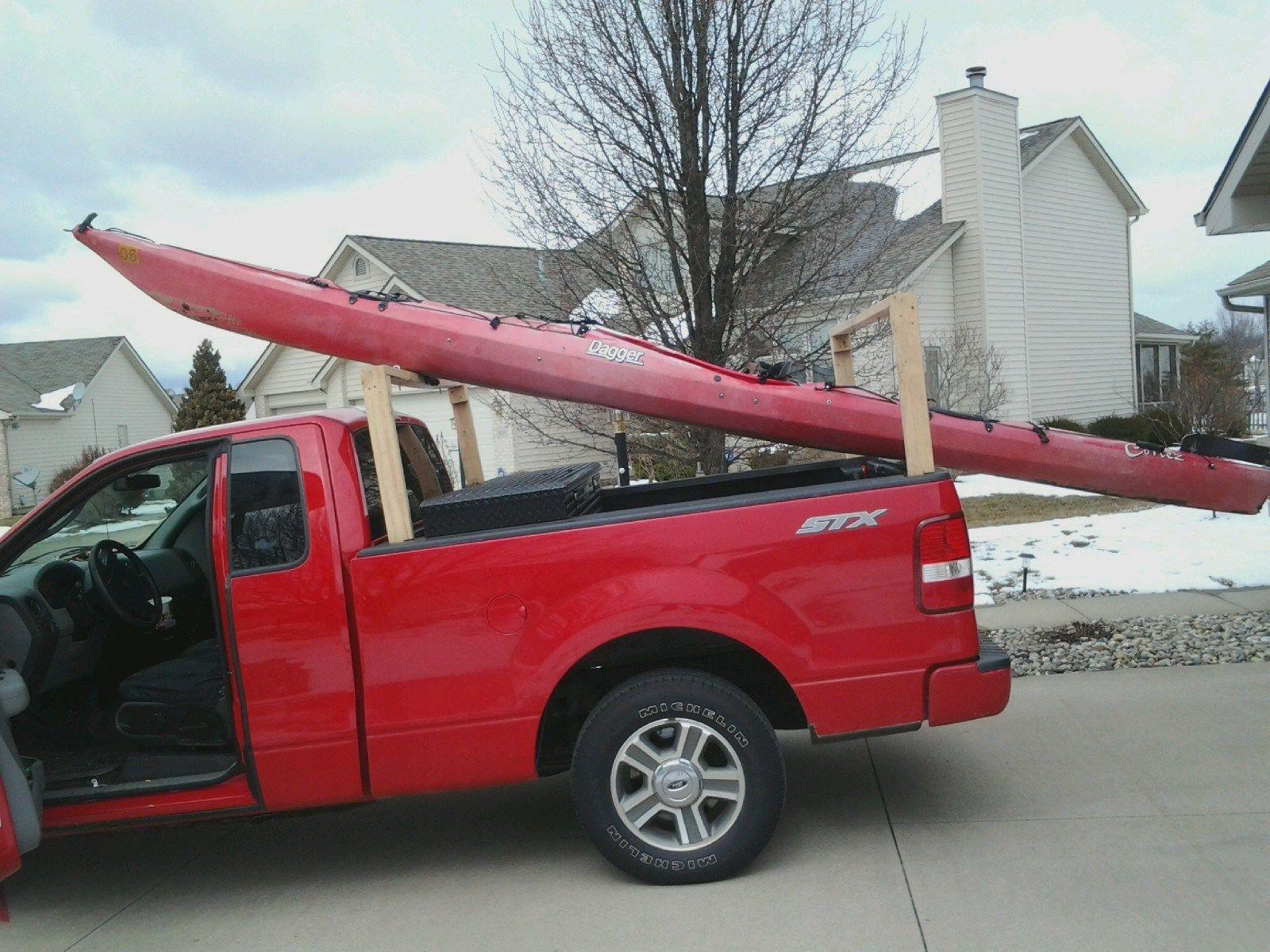 DIY Truck Canoe Rack  Kayak Racks for Trucks DIY Ideas 40 RVtruckCAR