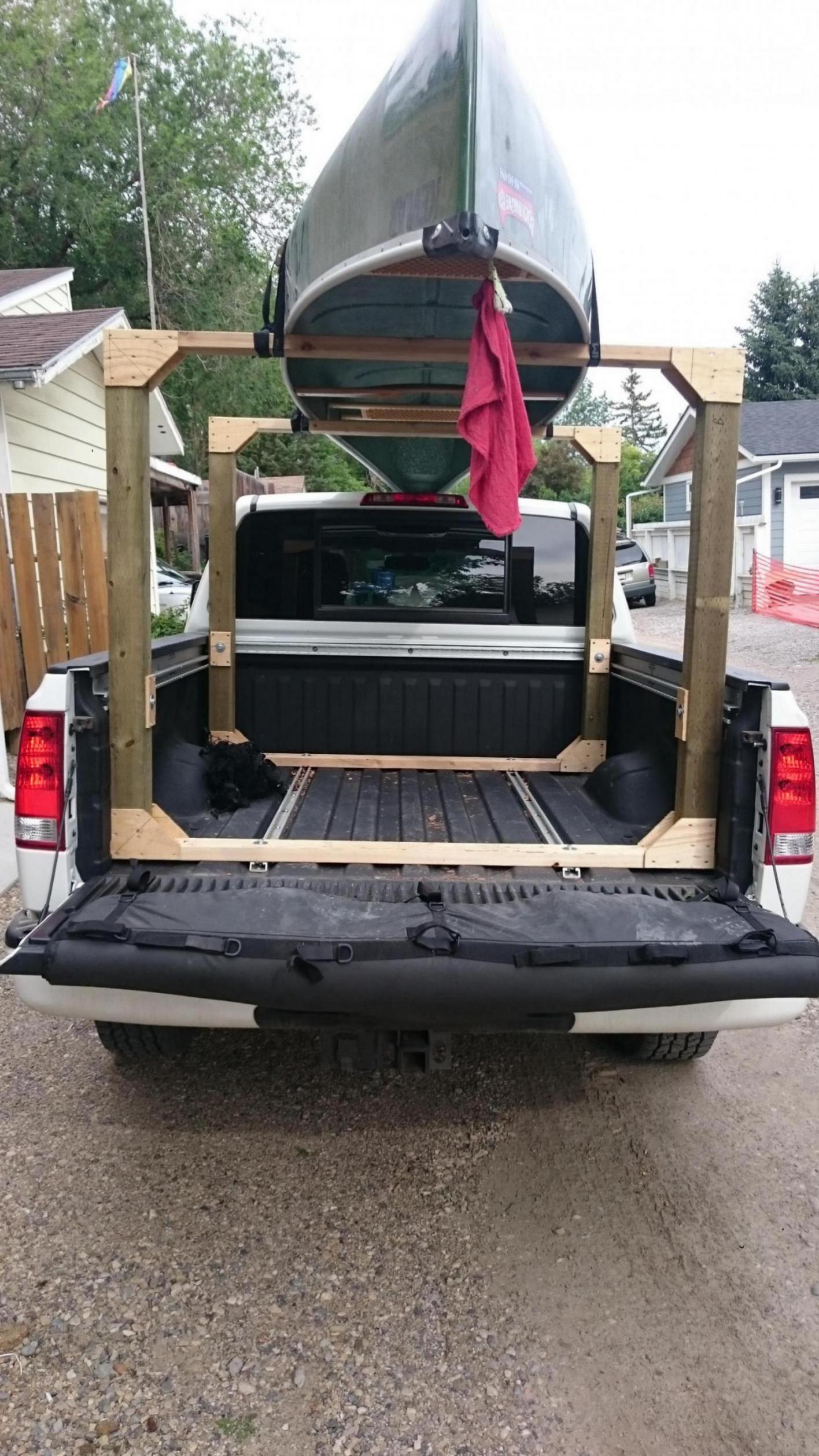 DIY Truck Canoe Rack  DIY canoe rack Nissan Titan Forum