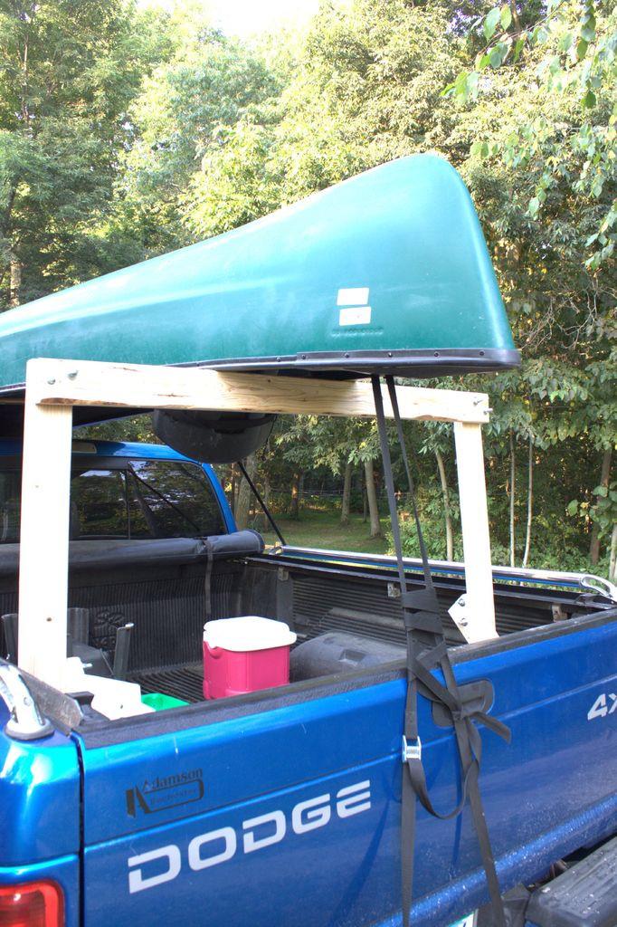 DIY Truck Canoe Rack  dS Tips Diy canoe rack for pickup truck